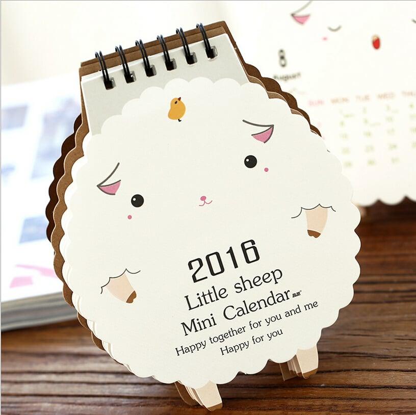 desain kalender kreatif - sheep