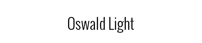 oswald-light-font