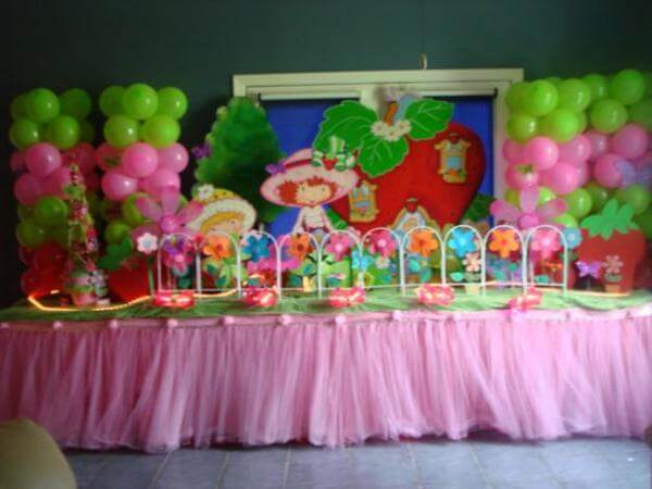 Birthday Decoration Ideas At Home For Girl 7 Kids Party 600 X 450