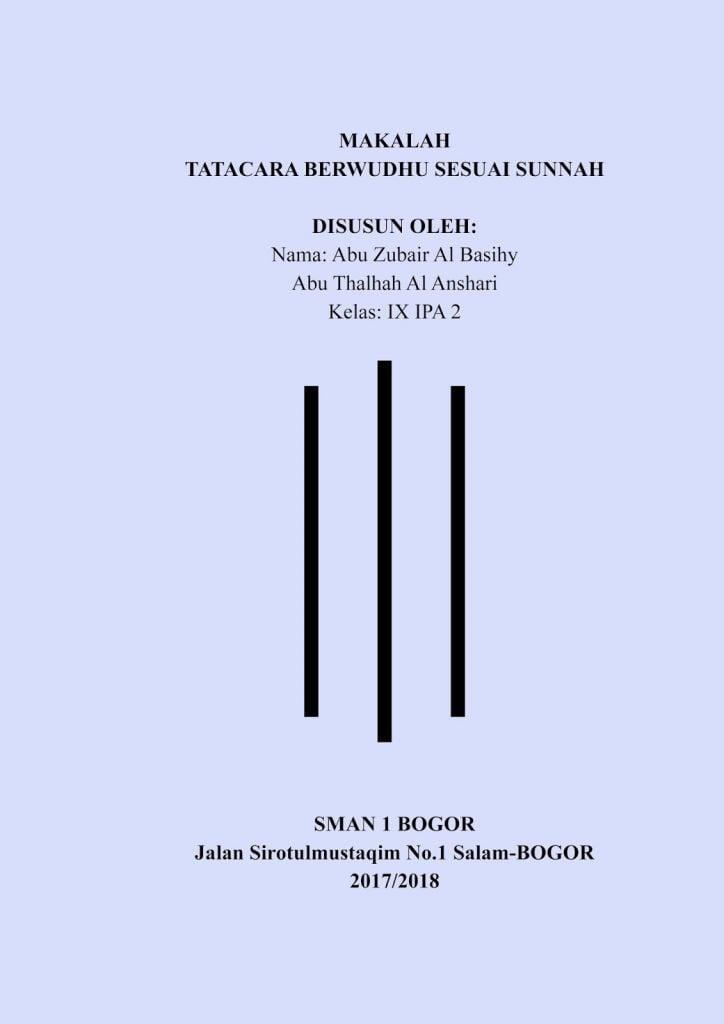 Contoh Makalah Cover Depan