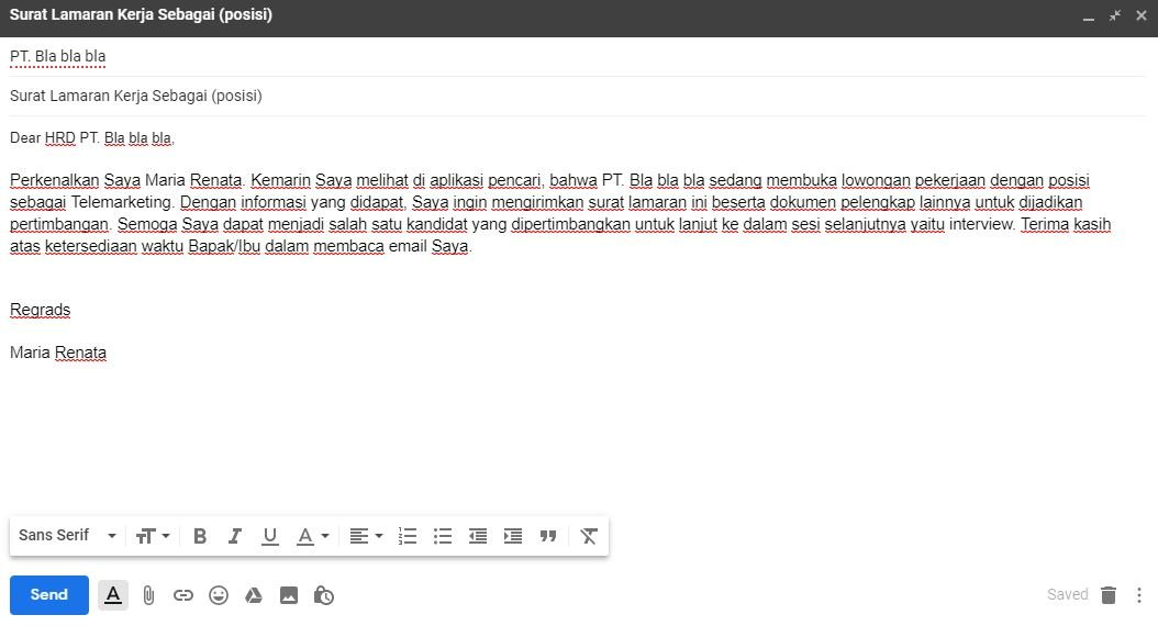 Contoh Undangan Interview By Email