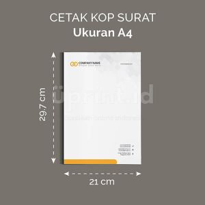 Kop Surat - Ukuran A4 (Digital Offset)
