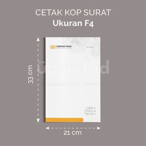 Kop Surat - Ukuran F4 (Digital Offset)