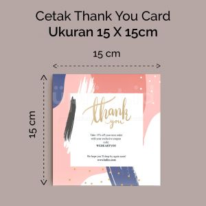 Thank You Card - 15 x 15 cm (Cetak Offset)