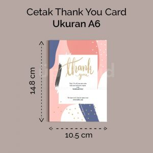 Thank You Card - A6 (Cetak Offset)