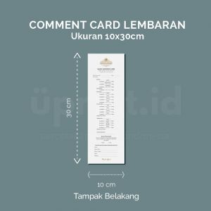 Comment Card - Ukuran 10 x 30 cm (Digital)