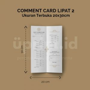 Comment Card - Ukuran 20 x 30 cm (Offset)