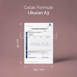 Formulir - Ukuran A3  (Digital)