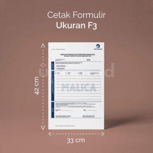 Formulir - Ukuran F3 (Digital)