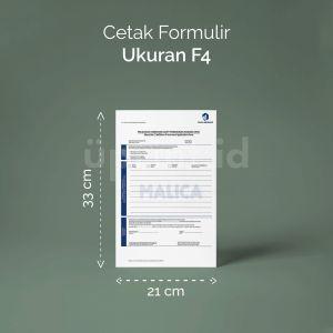Formulir - Ukuran F4 (Digital)