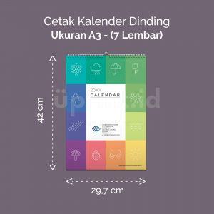 Kalender Dinding A3 - 7 Lembar