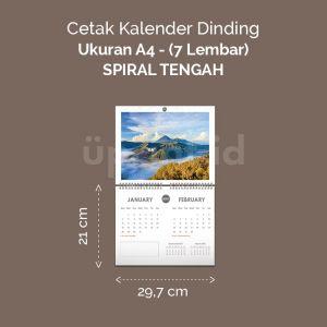 Kalender Dinding Premium - Spiral Tengah - A4
