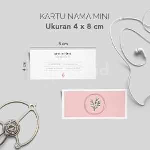 Kartu Nama - Kartu Nama Mini 8 x 4  cm