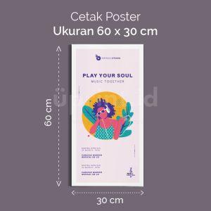 Poster - 60 x 30 cm (Cetak Offset)