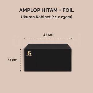 Amplop Hitam + Foil - Ukuran 23 x 11 cm
