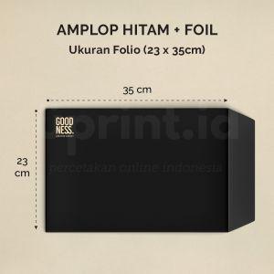 Amplop Hitam + Foil - Ukuran 24 x 35 cm