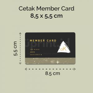 Member Card - Bahan PVC Premium 8.5 x 5.5 cm