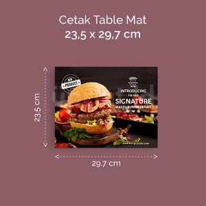 Table Mat Ukuran 23.5 x 29.7
