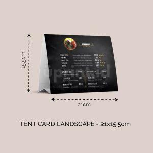 Tent Card Landscape - 21 x 15.5 cm