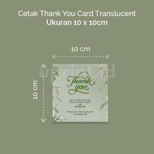 Thank You Card Translucent - 10 x 10 cm