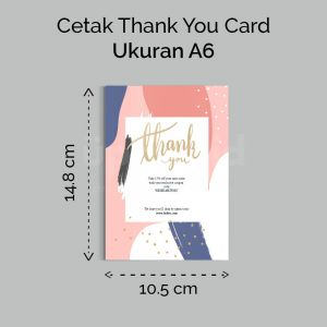 Thank You Card - A6 (Cetak Digital Offset)