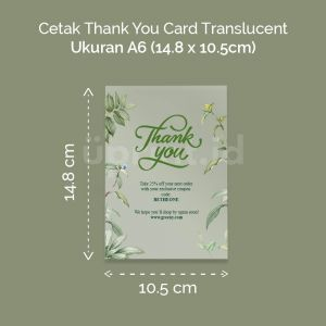 Thank You Card Translucent - A6
