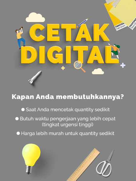 Cetak booklet A4 Digital Offset